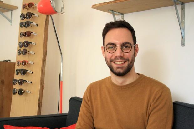 Portrait entrepreneur opticien Nantes